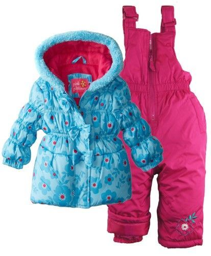 4772fba841bc Pink Platinum Baby Girls Floral Snowboard Puffer Jacket and ...