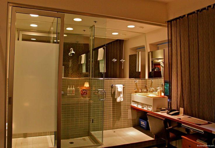 The Drake Hotel in Toronto, Canada Tiny but compact bathroom area