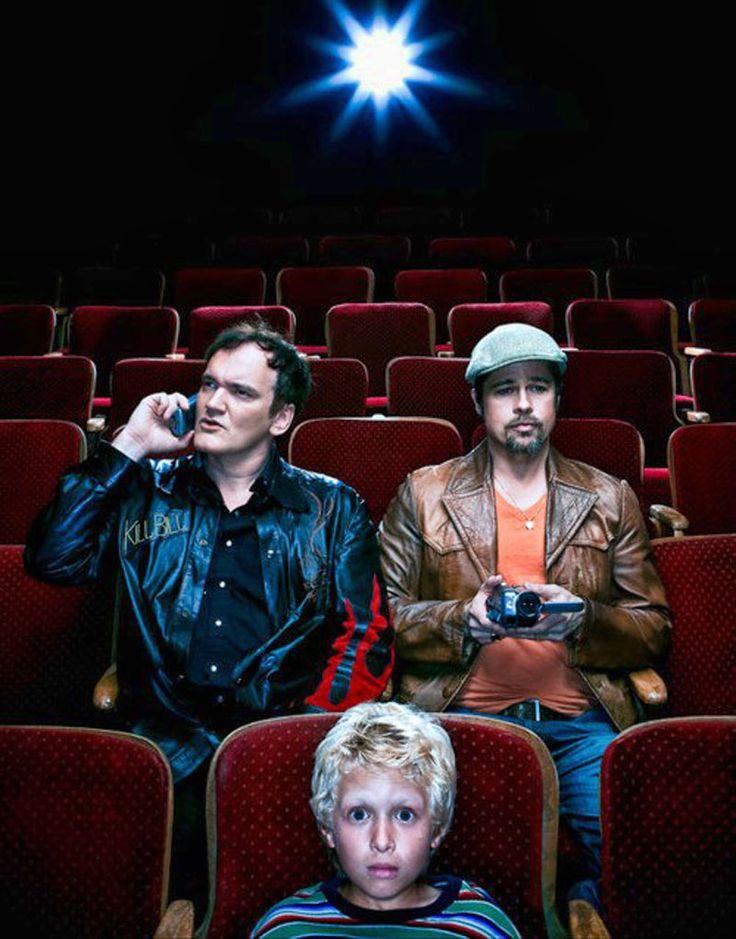 Brad Pitt y Quentin Tarantino fotografiados por Dan Winters, 2009