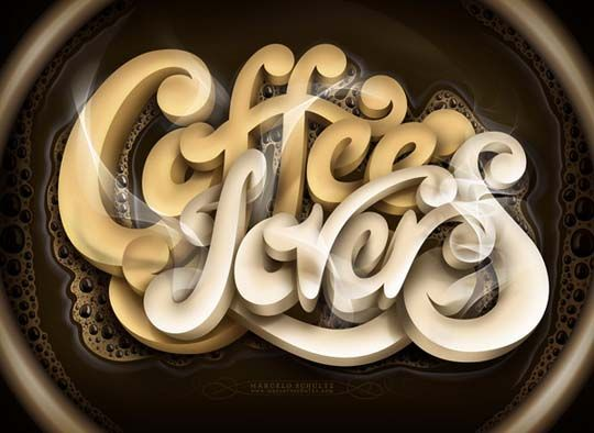 Coffee Lovers - Typography Poster