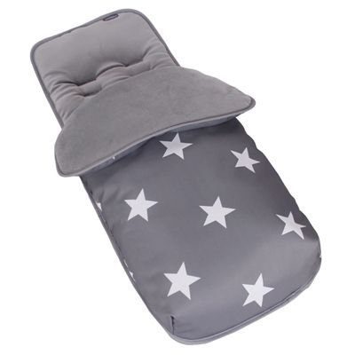 This grey stars fleece lined cosy toes footmuff is not only a cosy, soft and comfortable addition to your pushchair but a bright and fun way to accessorise your My Babiie pushchair. The fleece lined footmuffs are made to the highest attainable standards and are a 100% top quality polyester footmuff.