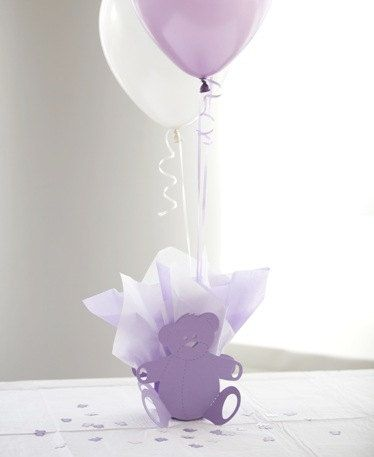 Teddy Bear Baby Shower Centerpieces with by SetToCelebrate on Etsy