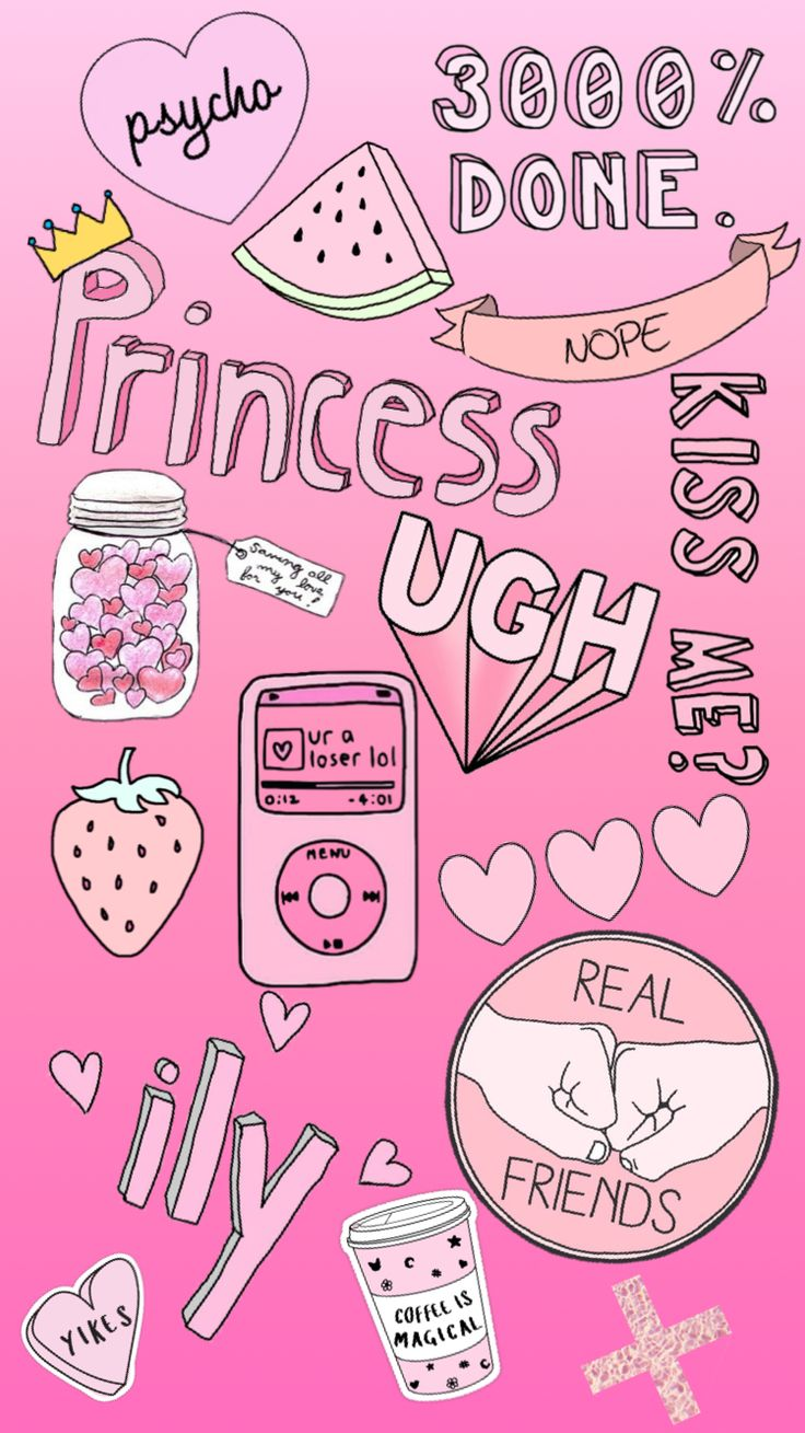 Pink Wallpaper  By:mehhh  #cute #pink #wallpaper #iphone #tumbler #hearts #princess