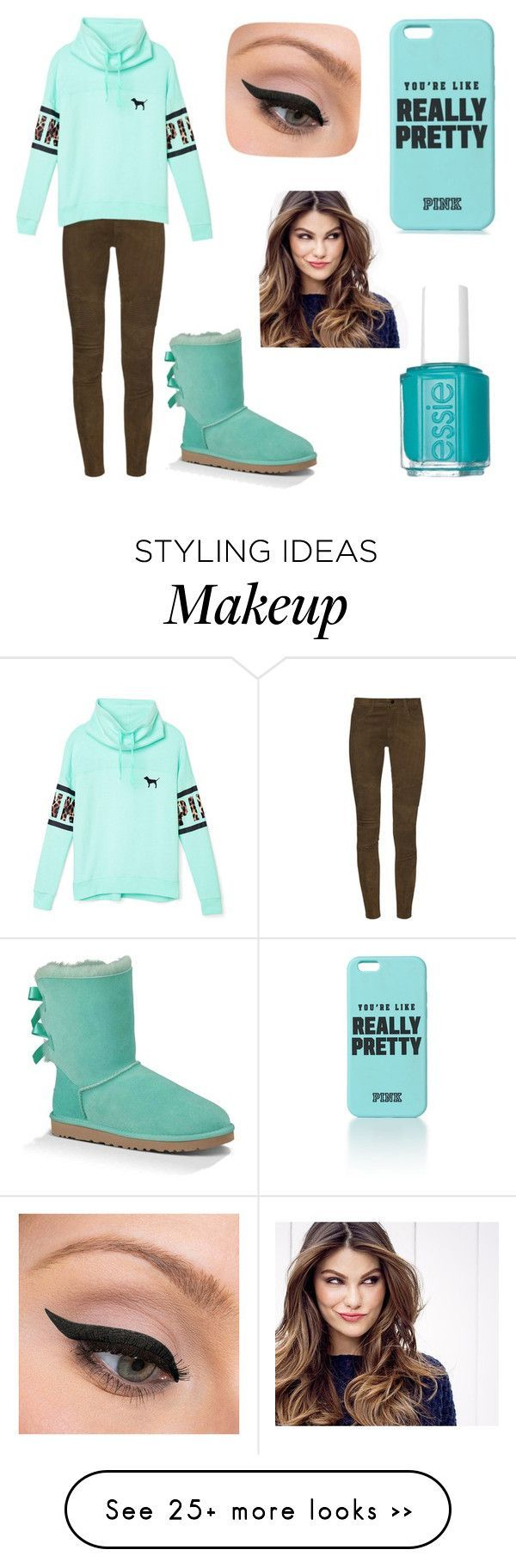 """Really Pretty"" by taylor-loves-clothes on Polyvore featuring J Brand, Victoria's Secret PINK, UGG Australia, Essie, LORAC and ULTA"