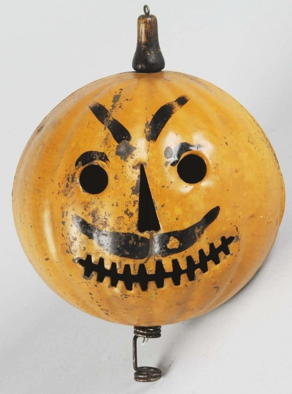 tin halloween pumpkin head parade lantern - Metal Halloween Decorations