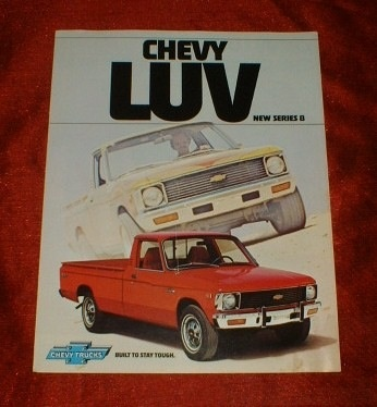 My first brand new vehicle, a red '78 Chevy Luv Truck.