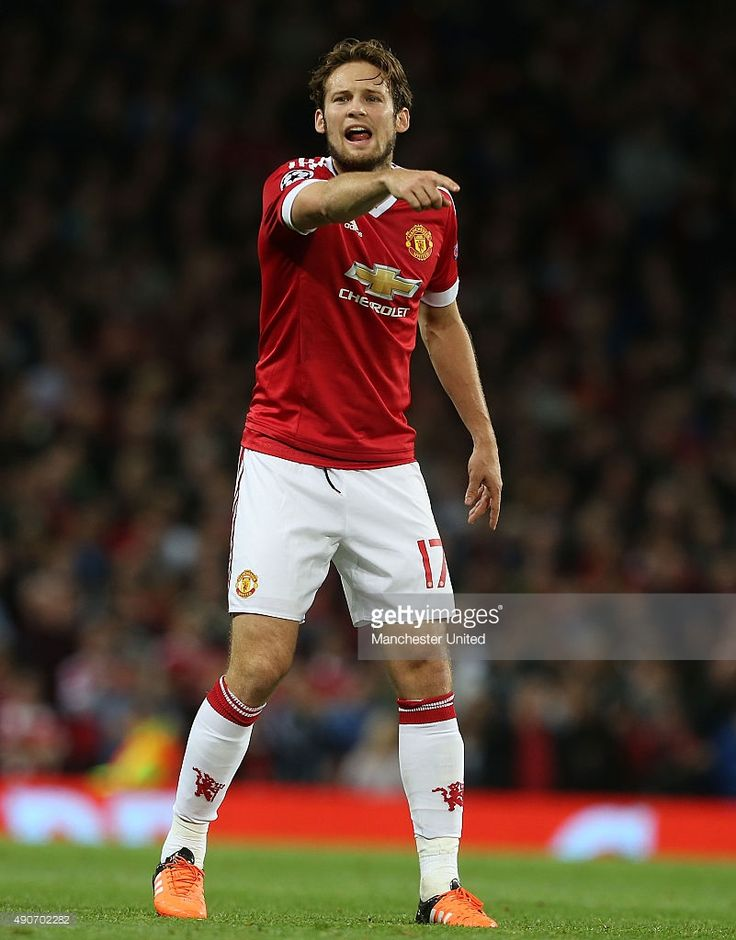 Daley Blind of Manchester United in action during the UEFA Champions League Group C match between Manchester United and VfL Wolfsburg at Old Trafford on September 30, 2015 in Manchester, United Kingdom.