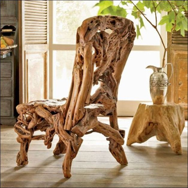 Driftwood Chair For In And Outdoor Living.