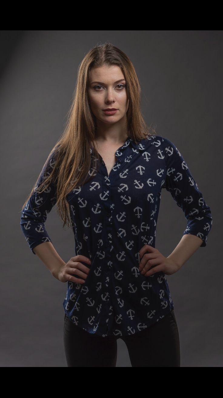 blue anchor blouse