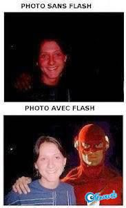 Photos avec et sans flash | fénoweb