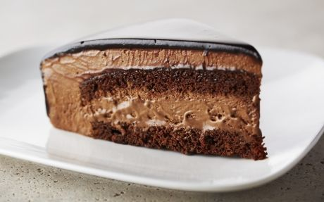 Rich Chocolate Mousse Cake Recipe by Anna Olson... Prep time › 2 hrs... Cook time › 40 mins... Serves › 12-16...