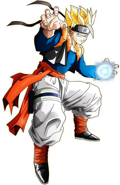 Goku And Naruto Fusion fusion on pinterest goku, naruto and crosses