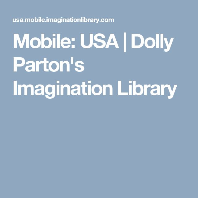 Mobile: USA  | Dolly Parton's Imagination Library