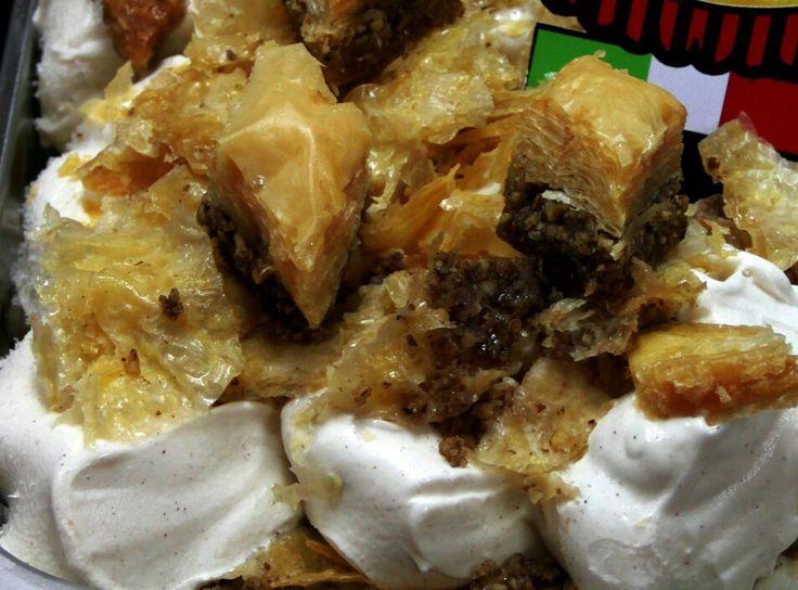 Baklavas Ice Cream #Baclava #Baklavas #IceCream #Sweet #Desert