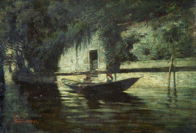 De Maria Mario, La barca a torzio, Galleria d'Arte Moderna Ricci Oddi, Piacenza