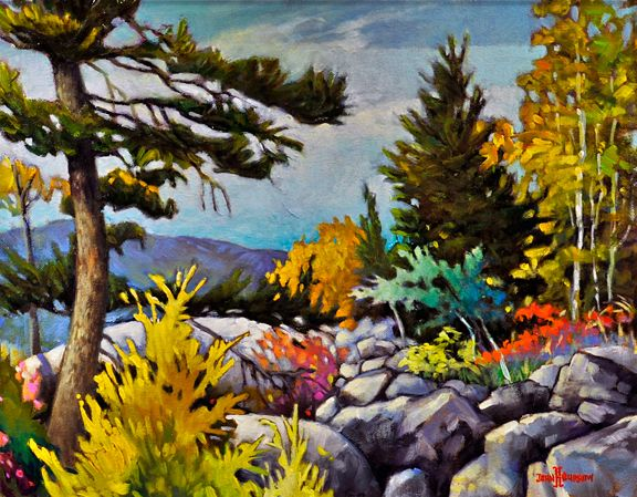 Landscape Painting by John H. Burrow. I think I like the colours.