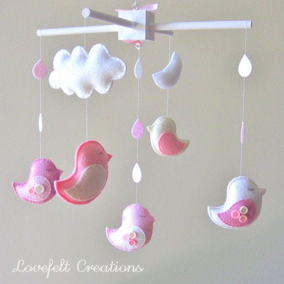 Baby crib mobile - Baby Mobile - Custom Baby Mobile -  Baby Birds Mobile…