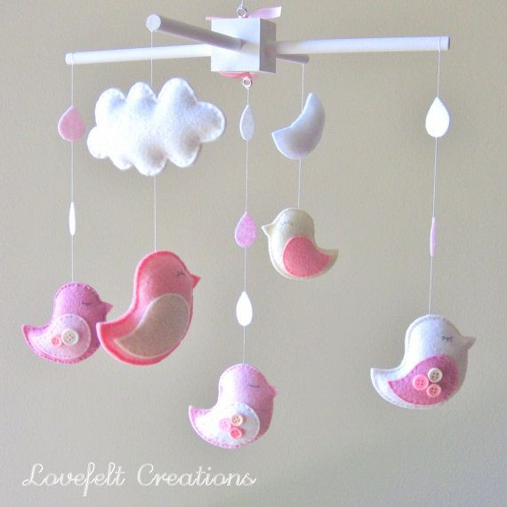 Baby crib mobile Baby Mobile Custom Baby Mobile by LoveFeltXoXo, $125.00