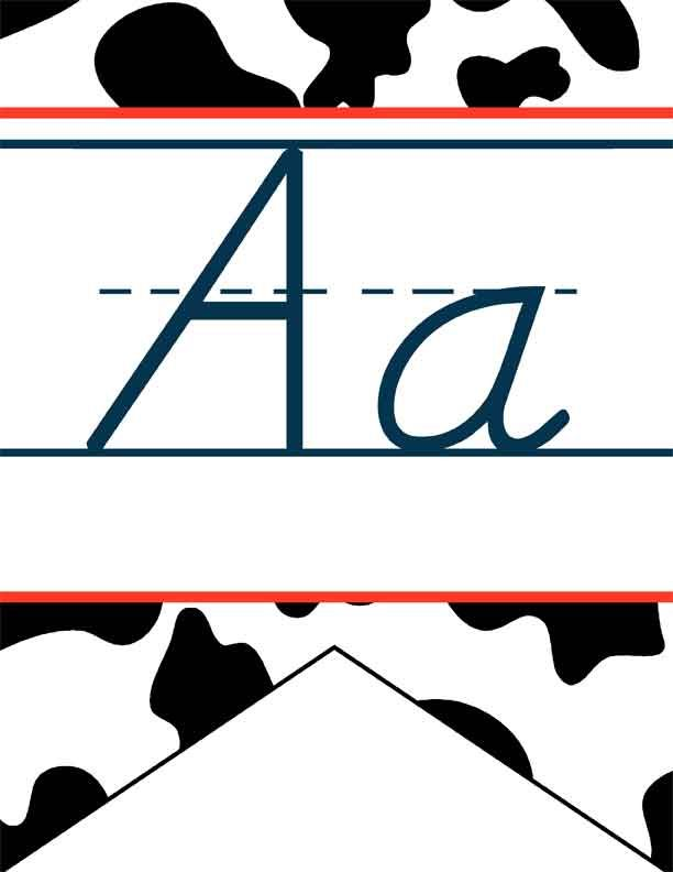 WESTERN Theme Decor / Alphabet Flag Banner / JPEGS and PDF / cow ...