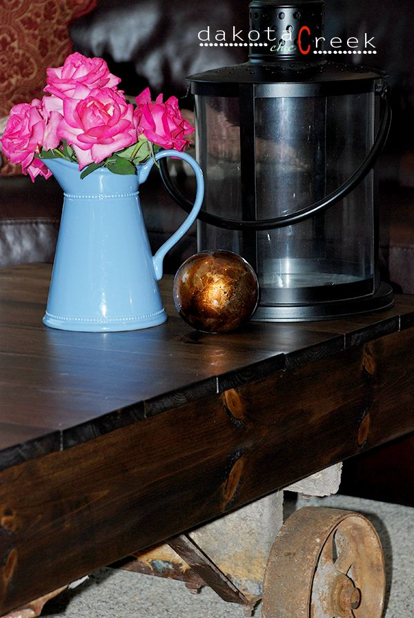 Restoration Hardware knockoff Factory Cart Coffee Table How To