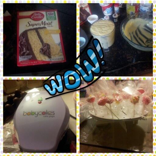 I <3 my babycakes popcake maker! It takes 6 mins to make a dozon. Made few dozon popcakes for my 3yr olds bday party.