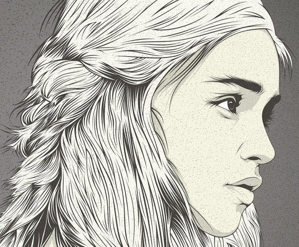 Daenerys Targaryen by CranioDsgn , via Behance