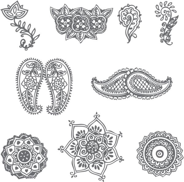 simple-decorative-henna-patterns-600x594.png (600×594 ...