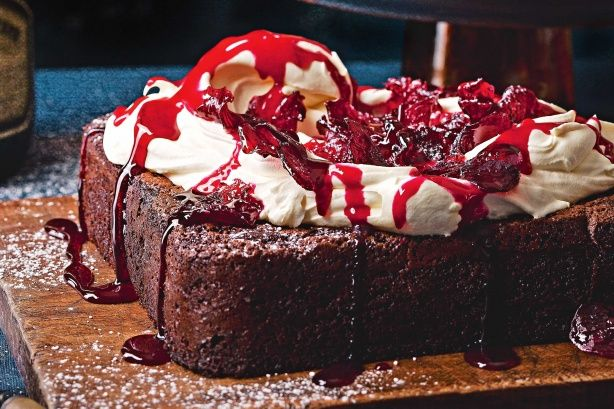 Chocolate and beetroot are unlikely bedfellows. This cake defies any such notion with dark chocolate, espresso and beetroot. Topped with candied beetroot and beetroot syrup, this cake will be the signature dessert of any dinner party.