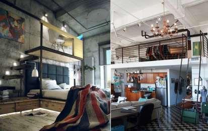 Camera da letto hipster - La camera da letto di un giovane hipster