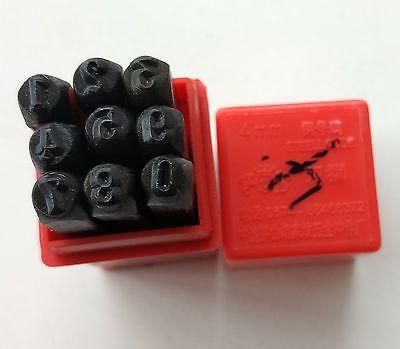 9pcs 4mm Steel Number Code Stamps Punch Dies Set #Affiliate