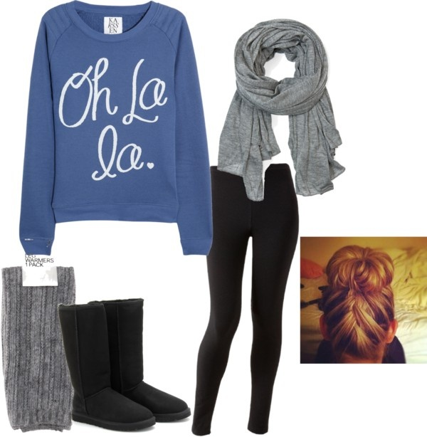 Cute & comfy: Legs Warmers, With, Day Outfits, Ugg Boots, Dreams Closet, Fall Wint, Lazy Day, Winter Outfits, Comfy Outfits