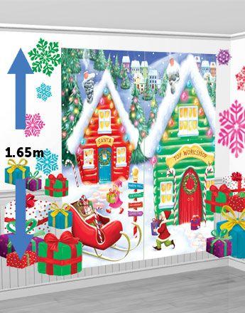 Werkstatt des Weihnachtsmanns Szene - 1,65m