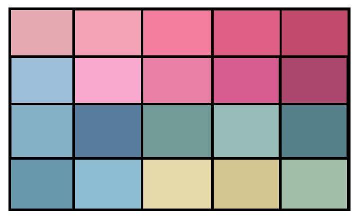 Soft summer brights. Яркие цвета(относительно яркие цвета палитры, те в которых меньше всего серого). Хорошо смотрятся как акценты в повседневной и деловой одежде, в вечернем гардеробе и аксессуарах. Поскольку самые яркие цвета мягких сезонов все равно остаются очень нежными, мягкому лету можно смело носить их, не боясь выглядеть вызывающе.