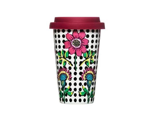 Kubek Bloom z silikonową pokrywką Cafe, 250 ml