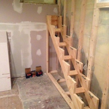 How to make floating stair supports