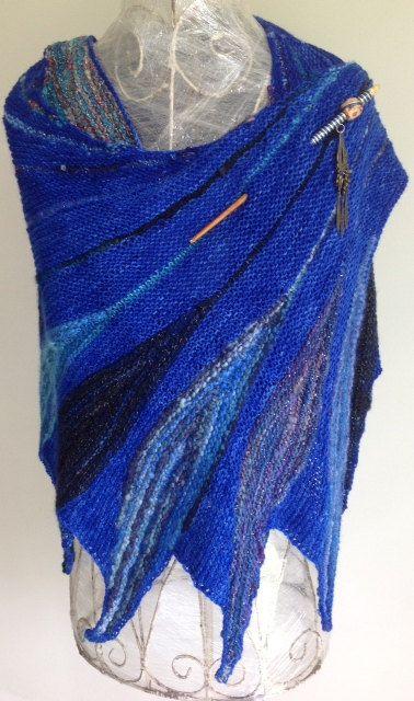 Wings of Paradise Shawl on Etsy, $140.00