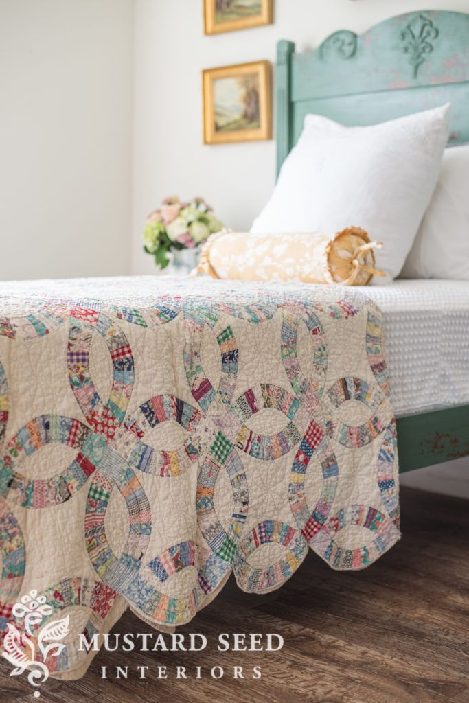 miss mustard seed | cottage bed reveal      Miss Mustard Seed reveals another milk paint makeover for the Lucketts Spring Market. See how she uses a custom mix of Miss Mustard Seed's Milk Paint and Tough Coat to create a beautiful, chippy finish on an antique cottage bed!