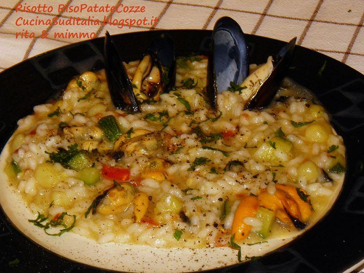Risotto con RisoPatateeCozze - Riso Patate e Cozze Sacrilega - http://cucinasuditalia.blogspot.it/2013/08/risotto-con-patate-e-cozze-riso-patate.html
