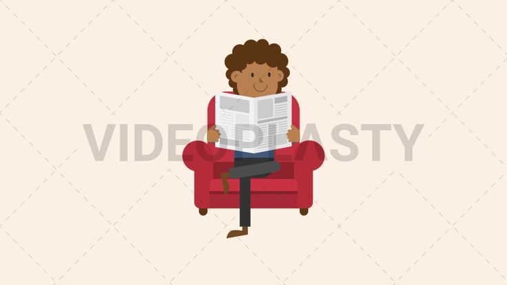 Download: http://ift.tt/2tFK2PX  A black man with curly hairis sitting on a red couch crossed legged while reading the newspaper  Two version are included: normal (with a start animation) and loopable. The normal version can be extended with the loopable version  Clip Length:10 seconds Loopable: Yes Alpha Channel: Yes Resolution:FullHD Format: Quicktime MOV  For more royalty free video assets visit: https://videoplasty.com