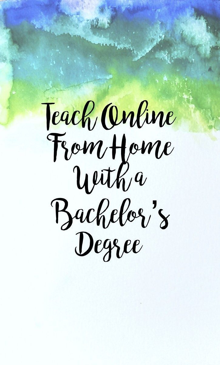 Teach Online From Home With a Bachelor's Degree