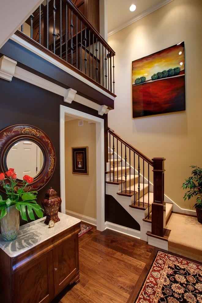 mission style staircase staircase traditional with wood floor traditional artificial flowers