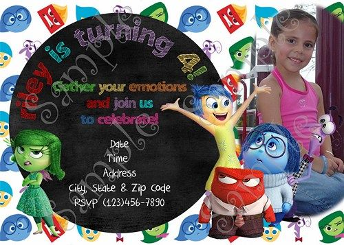 Disney Inside Out Birthday party invitation, Inside Out Birthday party, PapelPintadoDesigns, Birthday Party Invitations, Thank you cards, Inside Out thank you card, Inside Out party Invitations, Inside Out Invitation, Disney Inside out party, Inside Out Invitations, Inside out Birthday, Party Thank you cards, Birthday thank you card, Disney Inside out movie birthday party Invitation, Disney Inside out, Inside out, Inside out Movie, Inside out party supplies, Inside out Birthday, Disney…