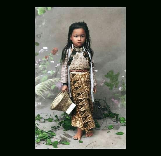 Javanese girl circa 1890