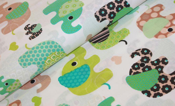 Sloni - hnědá/zelená