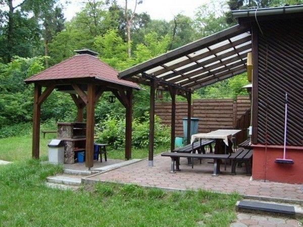 Открытая терраса с летней кухней