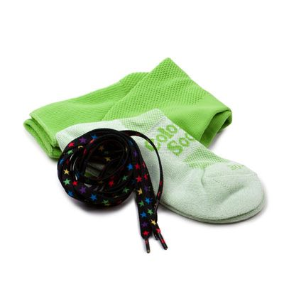Lime Green - Stars by Night by ColorMeSocks™