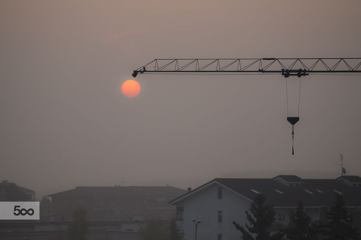 the sun hung on the crane by gallogiancarlo on 500px