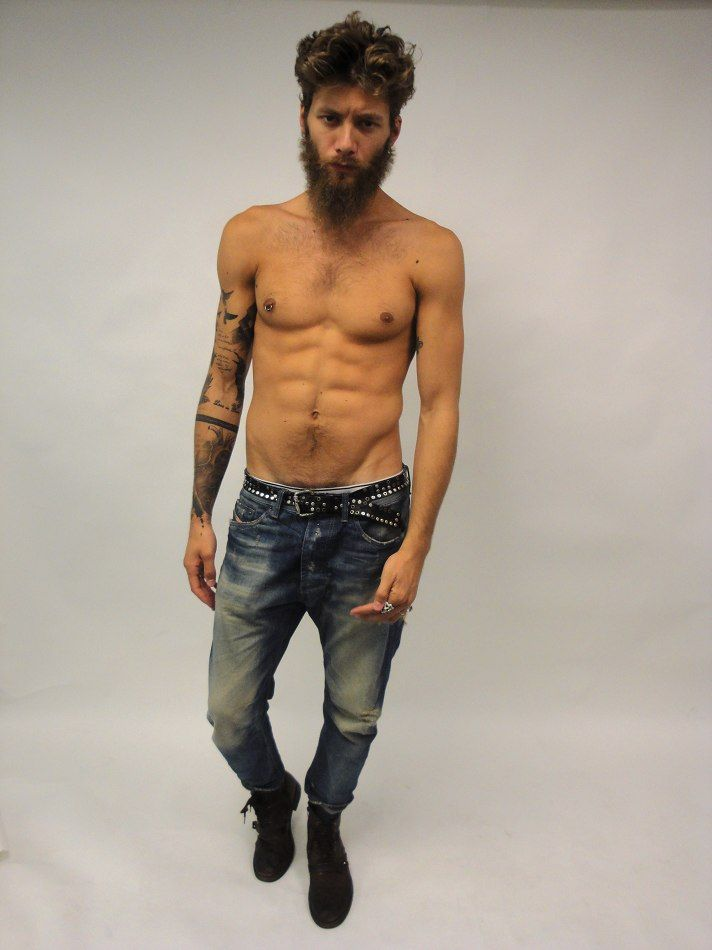 Andrea Marcaccini Jeans Body Denim Fashion Men Tumblr Style Beard Fitness Tattoo Pinterest