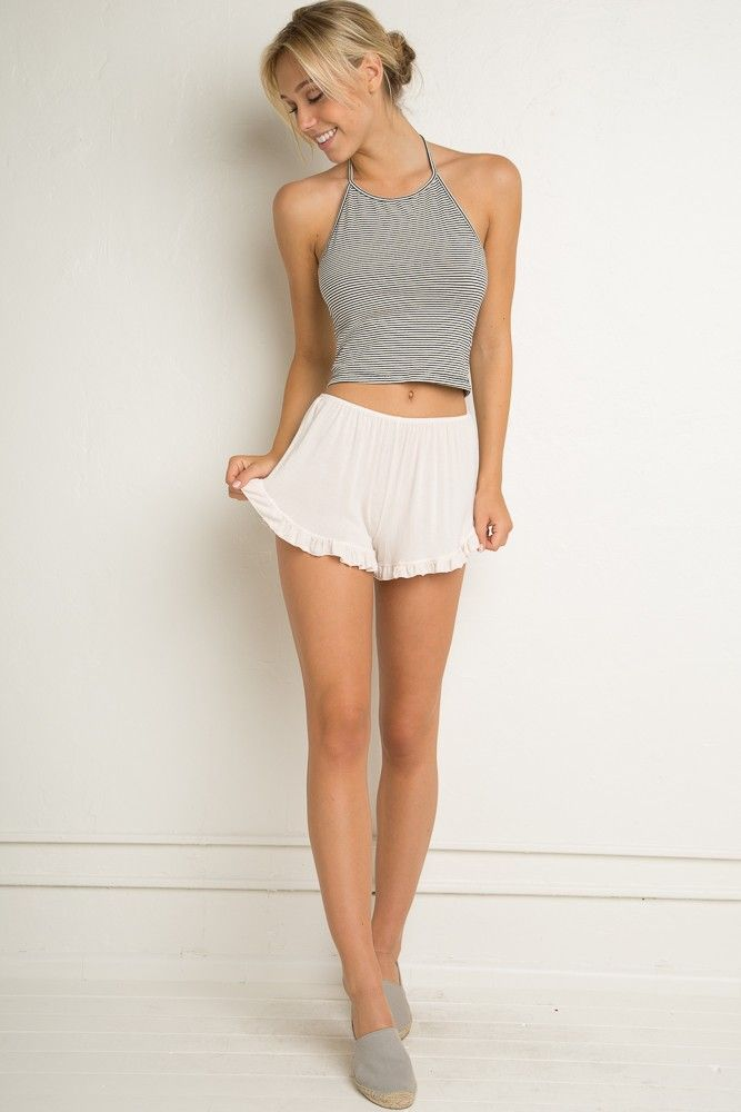 Brandy ♥ Melville | Vodi Shorts - Clothing  I have these shorts in grey and had no idea how to wear them
