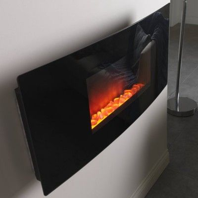http://www.gr8fires.co.uk/ezee-glow-wh2-curved-black-glass-wall-mounted-electric-fire-1886/?utm_source=Social&utm_medium=Social - Ezee Glow WH2 Cara Curved Black Glass Wall Mounted Electric Fire